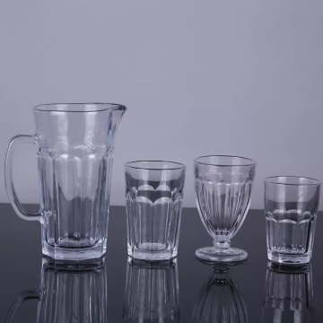 High Quality Glass Drinkware Set Glass Cup and Pitcher