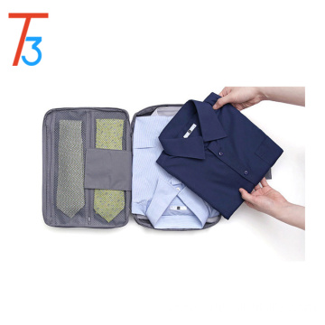Portable Shirt and Ties Storage Bag Organizer Wrinkle Free Shirt Travel Packing Clothes Holder