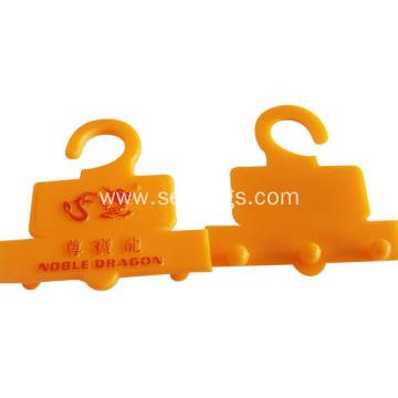 Plastic hook hang tags for luggage and belt