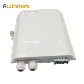 8 Cores Ftth Fiber Optic Terminal Box With Sc Adapters