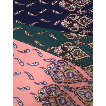 Border Pasiley Rayon Challis 30S Air-jet Printing Fabric