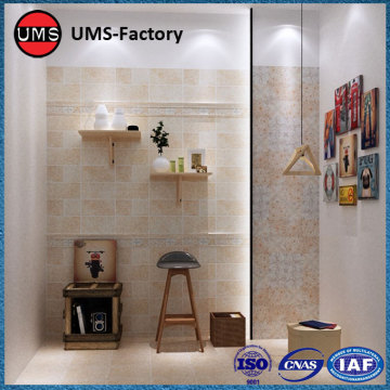 Yellow glazed tiles for shower walls