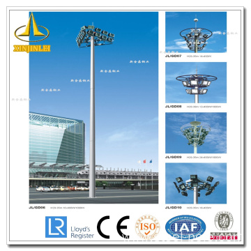 China for Steel Lighting Pole High Mast Silver Street Lighting High Mast Poles supply to Poland Supplier