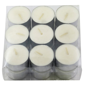 European Quality White Unscented Tealight Candles