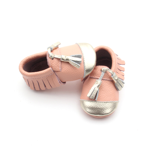 Top Class Infant Shoes Genuine Leather Baby Shoes with Fringe