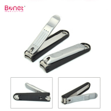 Deluxe chrome plating nail clipper with plastic tray