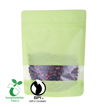 Rice Paper Bag With Window And Zipper