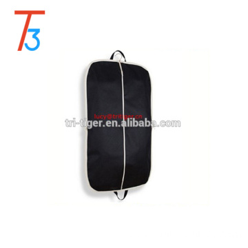"Zippered Suit Bag 43"" Length Coat Cover for Travel, Black"