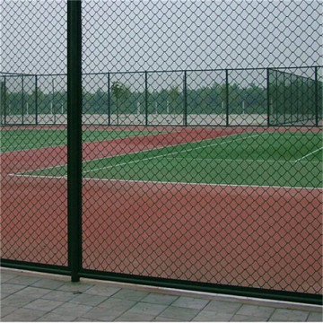 Green Color Coated Chain Link Fabric Fence