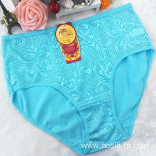 the hottest sale hipster new light green China cotton sexy plus size panty 3xl 5855
