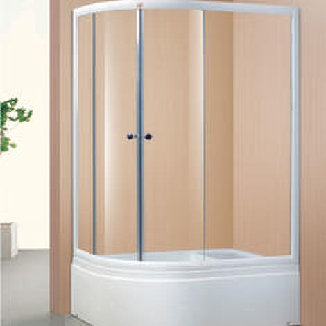 With Seat Clear Tempered Glass Simple Shower Room