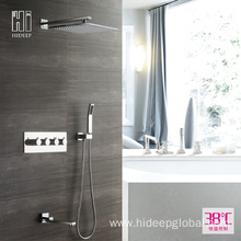 Professional High Quality for Thermostatic Shower Mixer Faucet HIDEEP Bathroom Thermostatic Pure Brass Shower Faucet Set supply to Armenia Factory