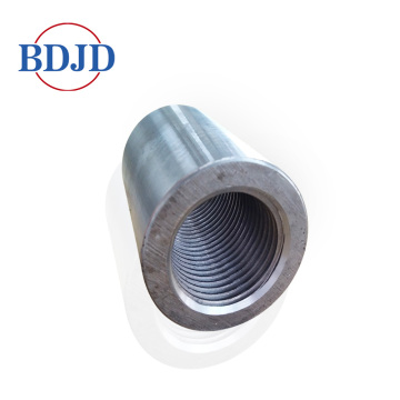 Building material parallel thread screw rebar coupler