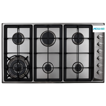 CAD Gas Hob 6 Burner In US