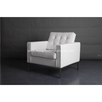 white leather knoll sofa one seat