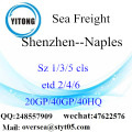 Shenzhen Port Sea Freight Shipping To Naples