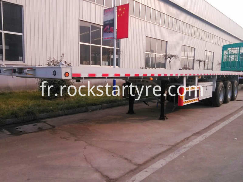 3 Axle Flat Bed Trailer White
