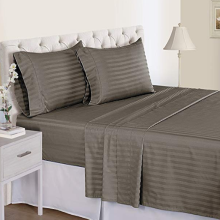 Customized for Cvc Sheets For Hotel 500TC Organic Cotton Sateen Stripe Sheet export to South Korea Exporter