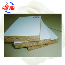 White laminated particle board for partitions