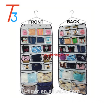 Hanging Closet Dual-sided Organizers Bra Underwear Socks Ties Storage 42 Pockets