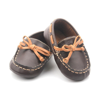 Ship shaped Prewaiker shoes baby leather casual shoes