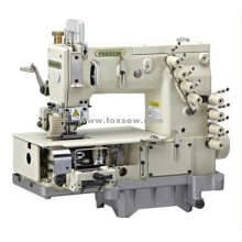 4 Needle Flat-bed Double Chain Stitch Sewing Machine with metering device