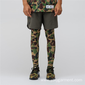 Fixed Competitive Price for Football Wear Army pattern legging long football pants supply to French Guiana Factories