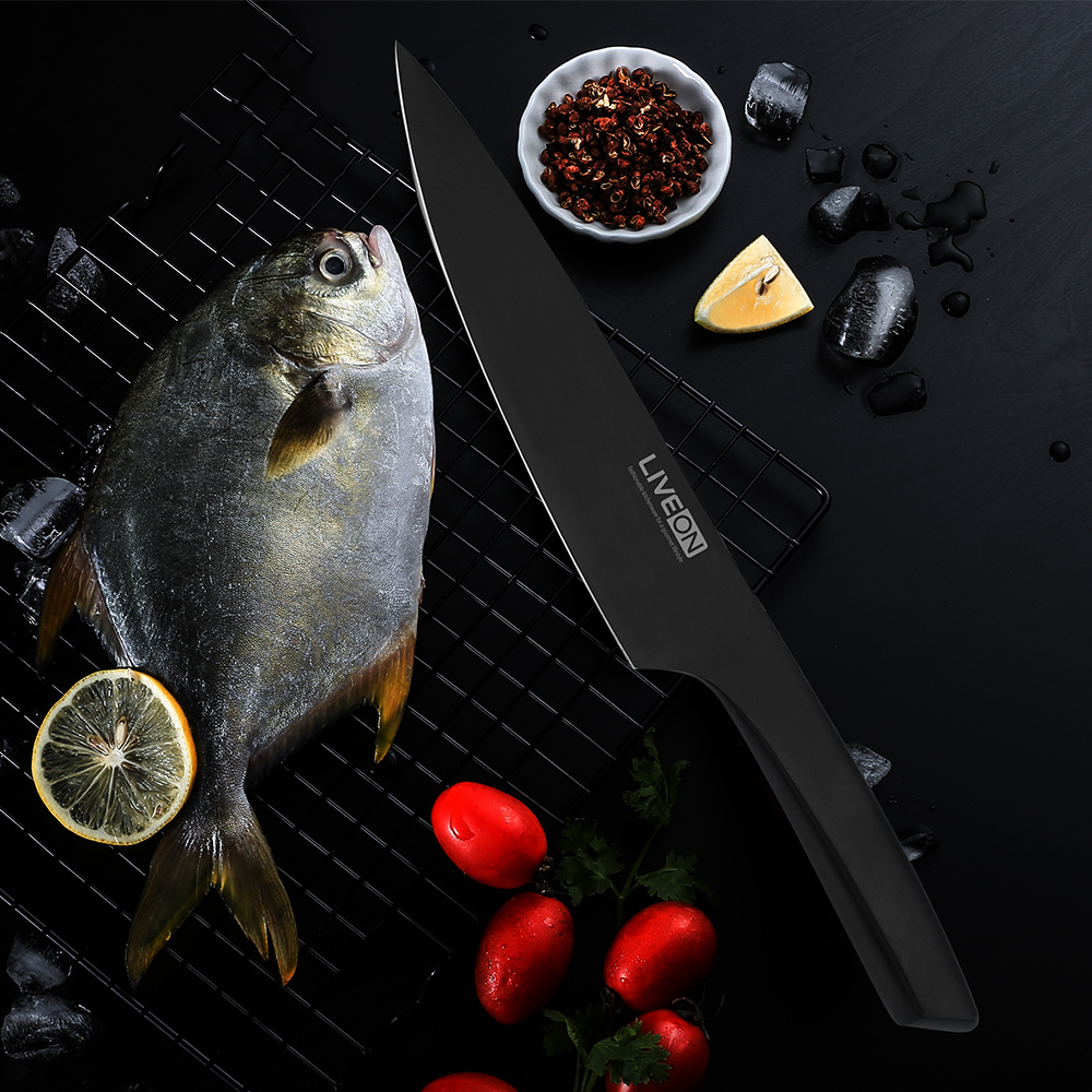 8 Inch Black Oxide Stream-line Chef Knife