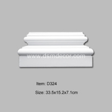 Good Quality for Door Pediments PU Decorative Pilaster Base export to Indonesia Importers