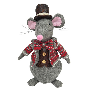 Christmas Door stopper with rat modeling
