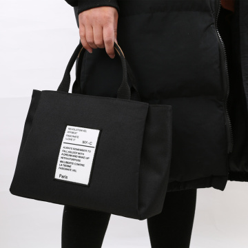 A heavy canvas bag with large capacity