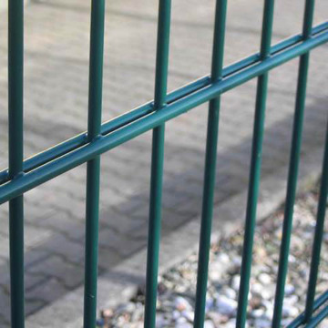 PVC Coated Double Wire Fence Panels