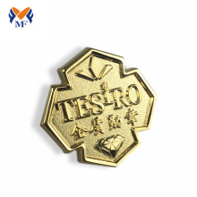 Good Quality for Custom Button Badges Customized gold metal logo cheap badges supply to Andorra Suppliers