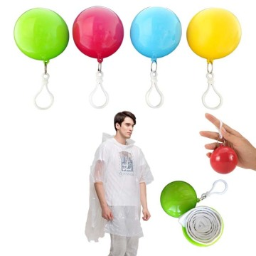 Environmental-Friendly Biodegradable Plastic Rain Poncho