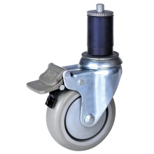 Professional for Expanding Adapter Casters,Expanding Stem Casters,Expanding Rubber Stem Casters Manufacturers and Suppliers in China 4 inch PU wheel expandable stem caster export to Qatar Supplier