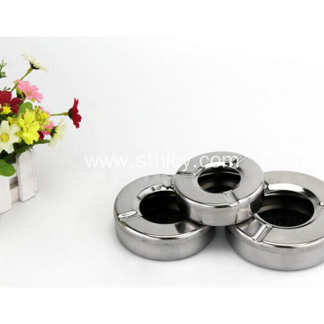 Metal Portable Natural Round Stainless Steel Pocket Ashtray