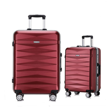 Aluminum magnesium alloy rolling wheeled trolley luggage
