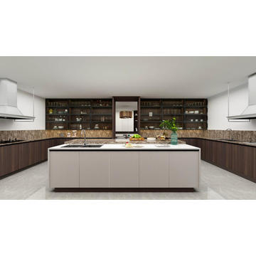 Wooden Color Modern Kitchen Cabinets