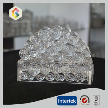 Hand Made Clouding Pattern Crystal Glass Napkin Holder