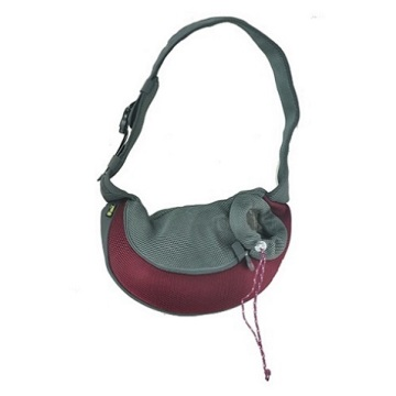 Burgundy XLarge PVC and Mesh Pet Sling