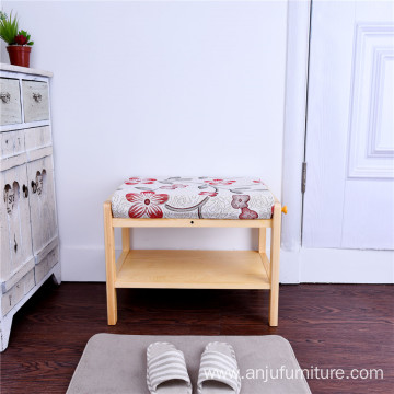 Modern style sofa stool wood stool shoe change stool