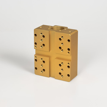 high precision cnc machining brass block parts
