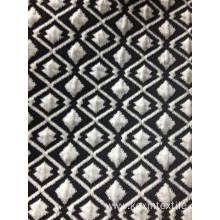 Black white diamond shape air layer jacquard fabric
