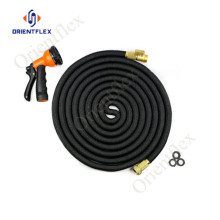 flexible expandable hose with brass fitting