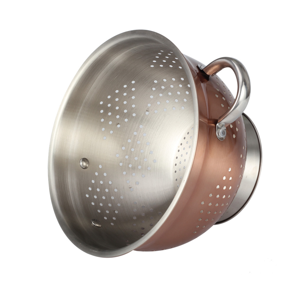 Copper Fruit Colander Easy Drain Water