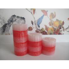 Wholesale Scdented Hand Poured Layered Pillar Candle11