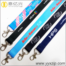 Promotional sublimation single custom polyester lanyards