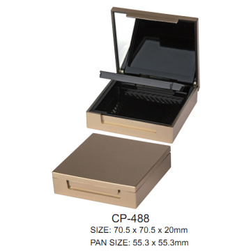 Square Cosmetic Powder Case with Mirror