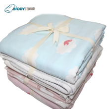 Knitted Embroider Soft Animal Printed Multilayer Blanket