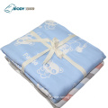 Receiving Swaddle Cartoon Printed Baby Multilayer Blanket
